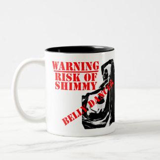 De Danser van de buik - Risico van Shimmy Tweekleurige Koffiemok
