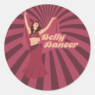 De Danser van de Buik van de Liefde van Audrey Ronde Sticker