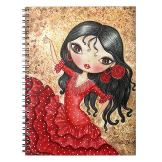 """De """"danser van het flamenco """" notitieboek"""