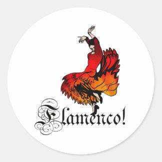De Danser van het flamenco Ronde Sticker