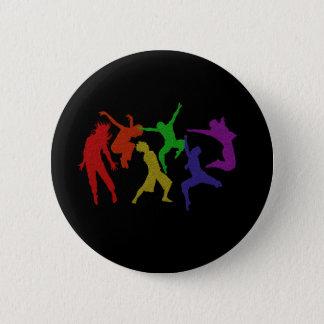 De dansers knopen dicht ronde button 5,7 cm