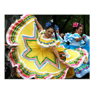 De Dansers van Cinco DE Mayo Briefkaart
