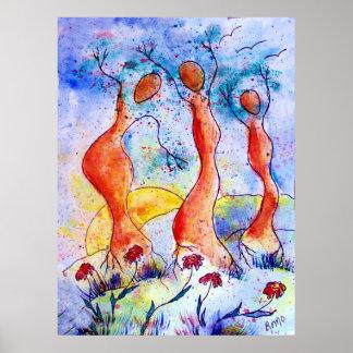 De Dansers van de boom Poster