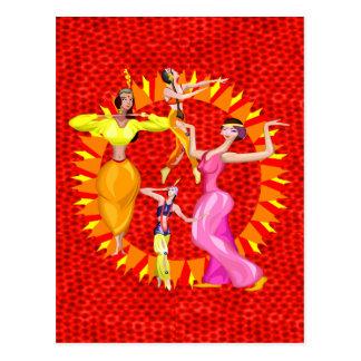 De Dansers van de buik Briefkaart