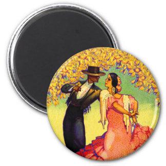 De Dansers van het flamenco onder de Oranje Bomen Magneten