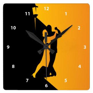 De Dansers van het Silhouet van de tango Vierkante Klok