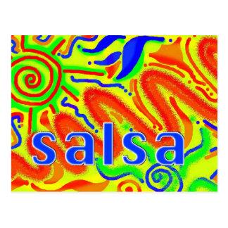 De danspret van Salsa - briefkaart