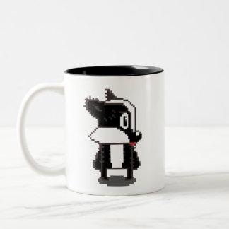 De Das van het pixel Tweekleurige Koffiemok