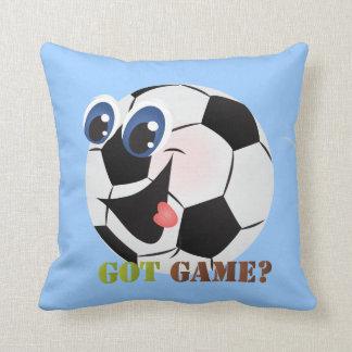 De de balsporten van het Voetbal van de cartoon Sierkussen