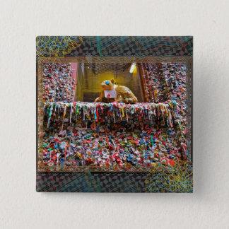 De de beroemde Knoop & spelden van katten Vierkante Button 5,1 Cm