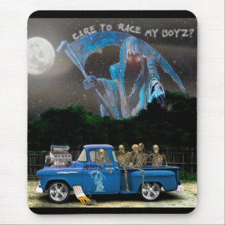 De de blauwe Vrachtwagen van de Oogst en Bemanning Muismatten