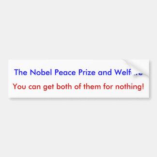 De de bumpersticker van de Prijs van de Vrede van