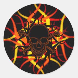 De de donkere Schedel van het Vergift & Sticker