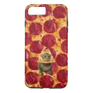 De de gekke Pizza van Pepperonis en Kat van de iPhone 8/7 Plus Hoesje