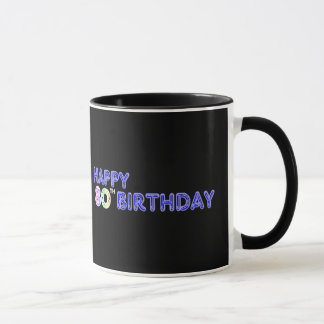 De de gelukkige 80ste Giften van de Verjaardag en Mok