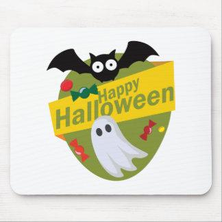 De de gelukkige Knuppels en Spoken van Halloween Muismat