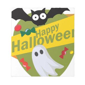 De de gelukkige Knuppels en Spoken van Halloween Notitieblok