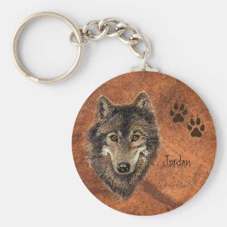 De de Gepersonaliseerde Wolf & Sporen van de Sleutelhanger