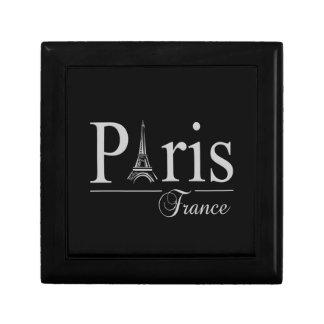 De de giftdoos van Parijs Frankrijk, past aan Decoratiedoosje