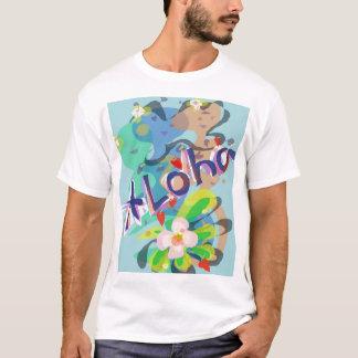 De de Hawaiiaanse Bloem van Aloha en Partij T van T Shirt