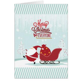 De de ijzige Kerstman en Ar van het Sprookjesland Wenskaart