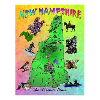 De de kaartkaart van Newhampshire van de Staat Briefkaart