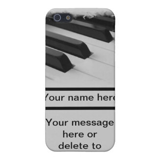 de de musicussleutel van de pianopianist past uw iPhone 5 cover