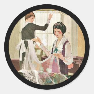De de nieuwe Moeder en Dochter van de Wasmachine Ronde Sticker