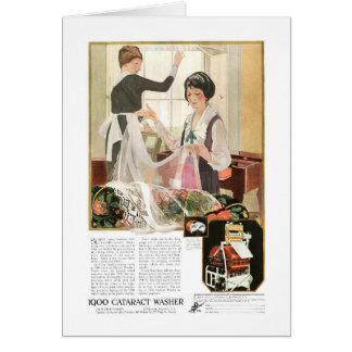 De de nieuwe Moeder en Dochter van de Wasmachine Wenskaart