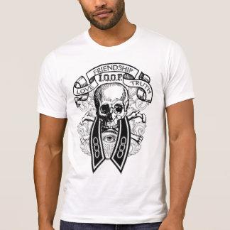De de oneven Schedel en Kraag van Kameraden FLT T Shirt