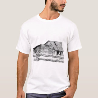De de oude Pen van het Houtschuurtje van Barnboard T Shirt