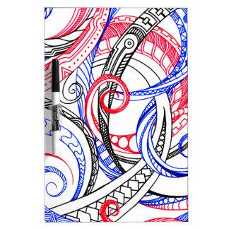 De de Rode Witte Blauwe Krullen & Wervelingen van Whiteboards