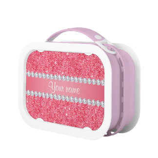 De de Roze Lovertjes en Diamanten van Faux Lunchbox