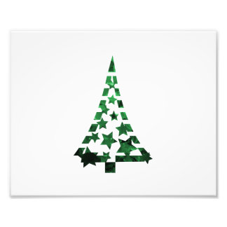 De de sterrenn streepjes van de kerstboom vlekten  fotoafdruk