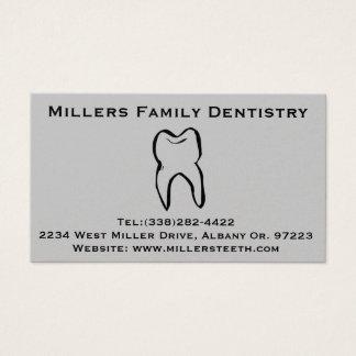 De de TandZaken van de tandarts en Kaart van de Visitekaartjes