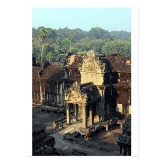 De de tempelruïnes van Wat van Angkor, Siem Briefkaart