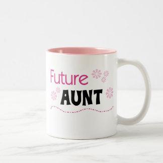De de toekomstige T-shirts en Giften van de Tante Tweekleurige Koffiemok