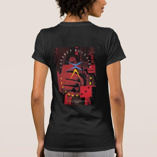 De de voorzijde & Rug van het Hardhandig optreden T Shirt