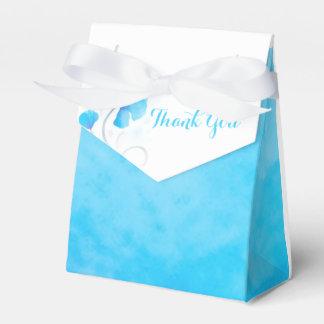 De de wasbloem van de waterverf dankt u de doos bedankdoosje