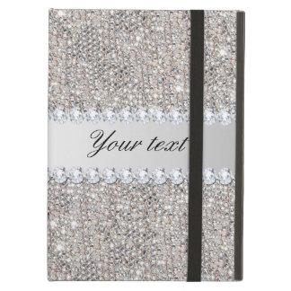 De de Zilveren Lovertjes en Diamanten van Faux iPad Air Hoesje
