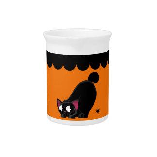De de Zwarte Kat en Spin van Halloween Drink Pitcher