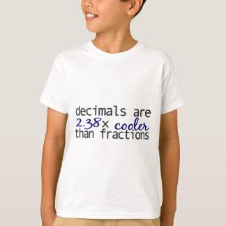 De decimalen zijn koeler dan Fracties T Shirt