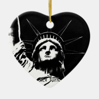 De Decoratie van de Herinnering van New York van Keramisch Hart Ornament