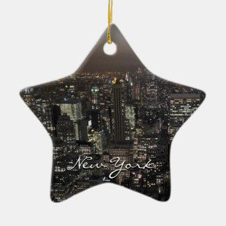 De Decoratie van de Herinnering van New York van Keramisch Ster Ornament