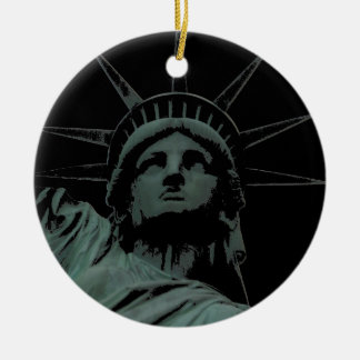 De Decoratie van de Herinnering van New York van Rond Keramisch Ornament