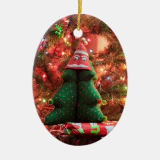 De Decoratie van de kerstboom Keramisch Ovaal Ornament
