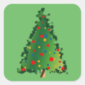 De Decoratie van de kerstboom op Stickers