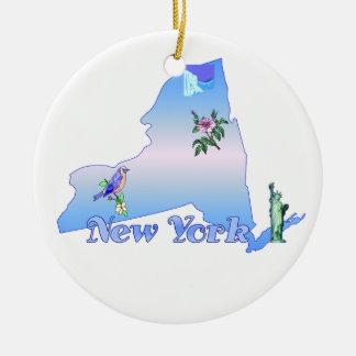 De Decoratie van de Kerstboom van New York Rond Keramisch Ornament