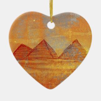 De Decoratie van Giza van piramides Keramisch Hart Ornament