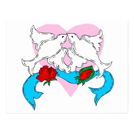 De decoratie van het huwelijk van de duif briefkaart zazzle - Decoratie van de kamers van de meiden ...